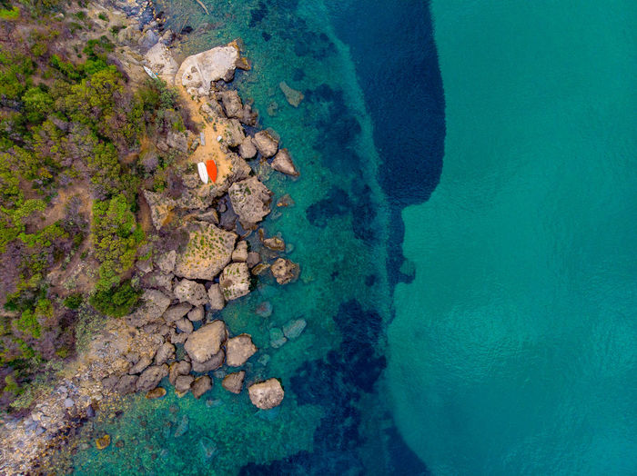 Water Sea Beauty In Nature Nature Rock Solid Day Scenics - Nature High Angle View Rock - Object No People Tranquility Tranquil Scene Waterfront Outdoors Aerial View Idyllic Land Underwater Turquoise Colored Dji Drone  Italy Tuscany Elba Isand Elba Island