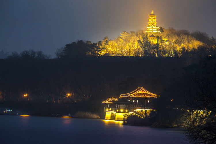 Xuanwu Lake Night View HUAWEI Photo Award: After Dark Architecture Building Building Exterior Built Structure Dusk Illuminated Lake Lake View Lighting Equipment Nature Night Night View No People Outdoors Plant Reflection Sky Travel Destinations Tree Water
