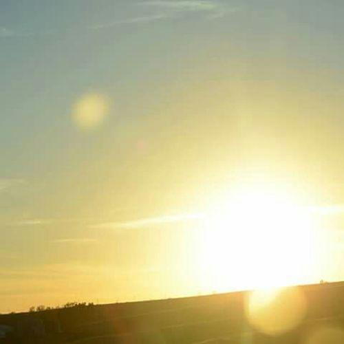 Sun Solarflare Traveling Car Nebraska Sunsets  Beautiful Lens Flare