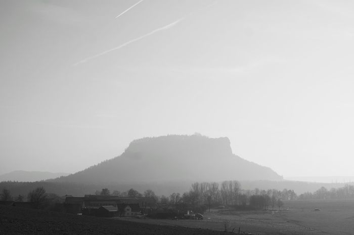 Beauty In Nature Scenics Nature Mountain Landscape No People Blackandwhite Black And White Saxon Switzerland Saxony