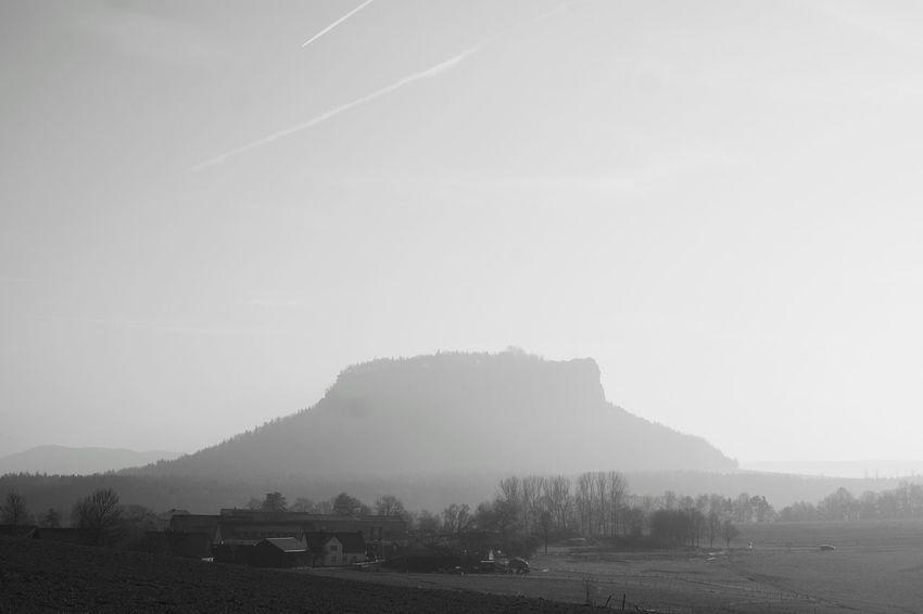 Beauty In Nature Scenics Nature Mountain Landscape No People Blackandwhite Black And White Saxon Switzerland Saxony