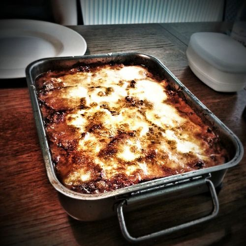 LCHF lasagne med lag af hjemmedyrket squash og aubergine og tomatsauce på tomater fra haven også. Det er sgu lækkert. Homegrown Easyliving Lchfklubben lchfdk livetpålandet