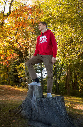 Akron Casual Casual Clothing Cousin Day Family Full Length Goodyear Leaf Leisure Activity Lifestyles Nature Nike Orange Color Outdoors Park Person Photography Power In Nature Standing Tree Tree Tree Trunk Woods Yellow