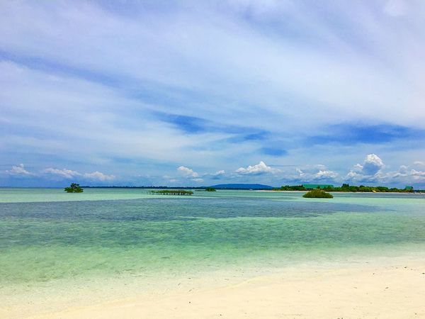 Virgin Island. No People Sky Blue Sea And Sky Sand Tropical Island Philippines Photos Bohol Peaceful Blue And Green Warm Summer Turquoise