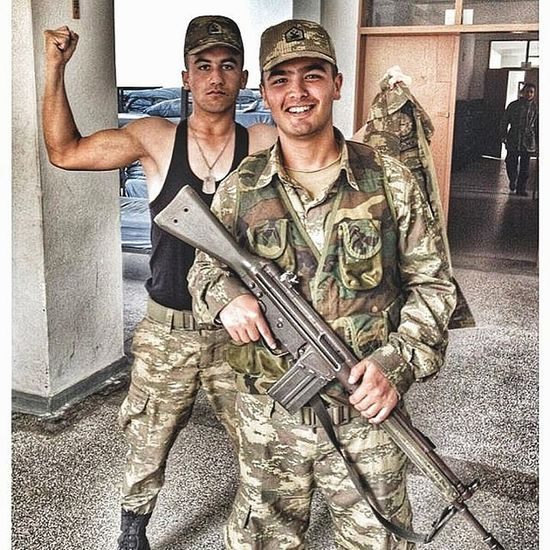 Two People Soldiers Military Uniform Uniform Army Smiling People Peace ✌ Work