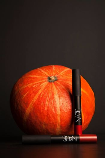 Autumn Black Background Close-up NARS Orange Color Pumpkin Still Life Studio Photography Studio Shot Vegetable