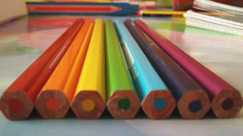 Multi Colored Colored Pencil Beatiful Kawaii&Cute Nice Love It KAWAII Love Cute Education Day Indoors  Red Orange Yellow Green Blue Cian Violet