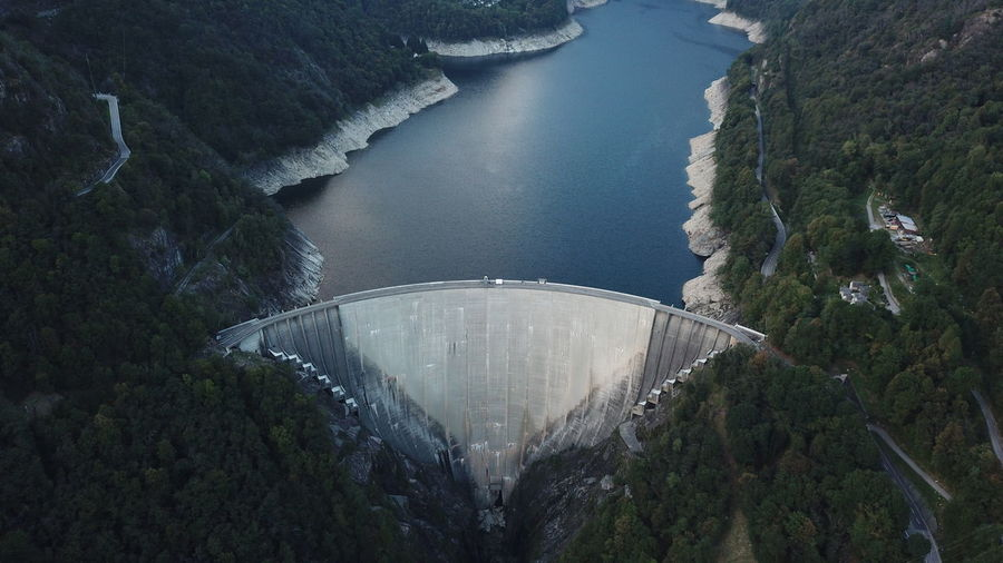 007 1995 Golden Eye James Bond Architecture Built Structure Contra Dam Dam High Angle View Hydroelectric Power Mountain Nature No People Reservoir Switzerland Ticino Verzasca Verzasca Valley Water