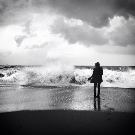 Sea Lonely Surf Melancholic Landscapes