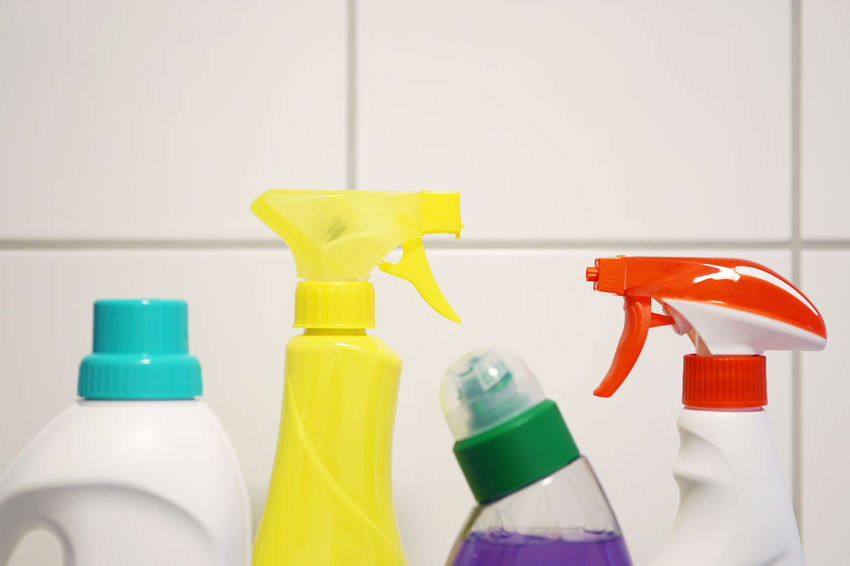 Bathroom Bottle Chores Cleaning Cleansing Close-up Copy Space Day Detergent Household Indoors  No People Products Spray Bottle Tiles