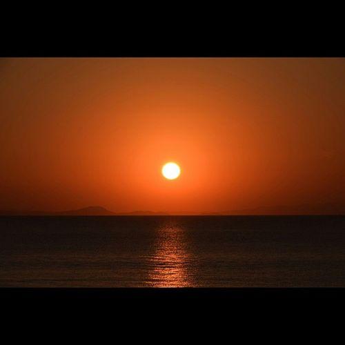 風景 夕陽 むつ湾 海