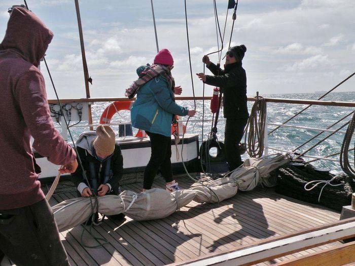 Athleisure Sailing Sail On Board Sailing Ship Sailing Trip Regatta Outdoor