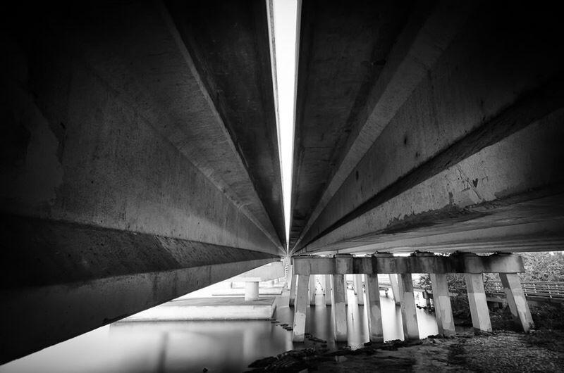 Top Heavy Long Exposure Leading Lines Bridge