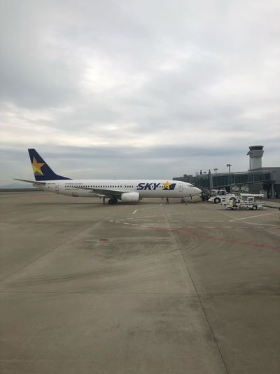 オッケー*\(^o^)/* #スカイマーク #SKYMARK Skymark Airlines Skymark Kobeairport Sky Air Vehicle Airplane Airport Cloud - Sky Transportation Mode Of Transportation