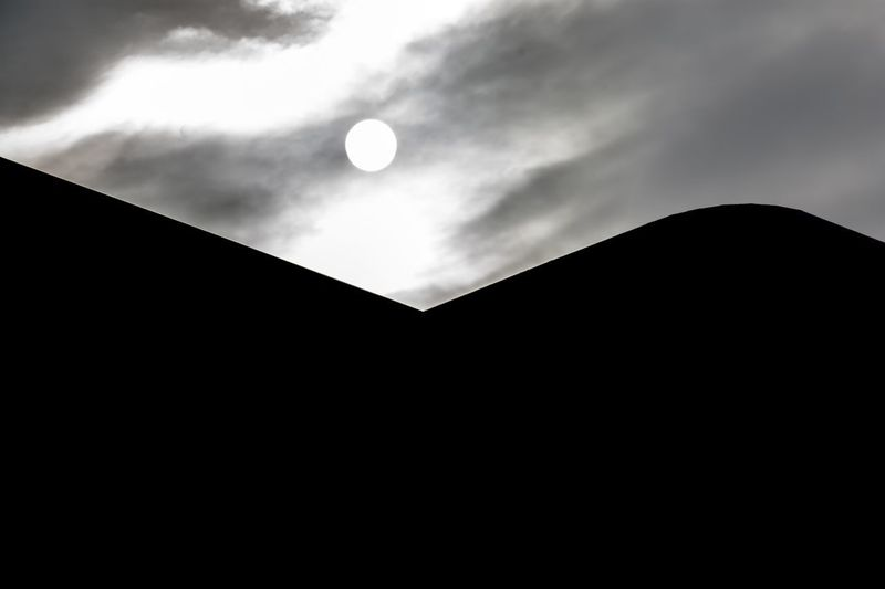 Sky Low Angle View Moon Cloud - Sky Silhouette Beauty In Nature 17.62° No People Scenics - Nature Full Moon Shape Space Geometric Shape Planetary Moon Tranquility Tranquil Scene