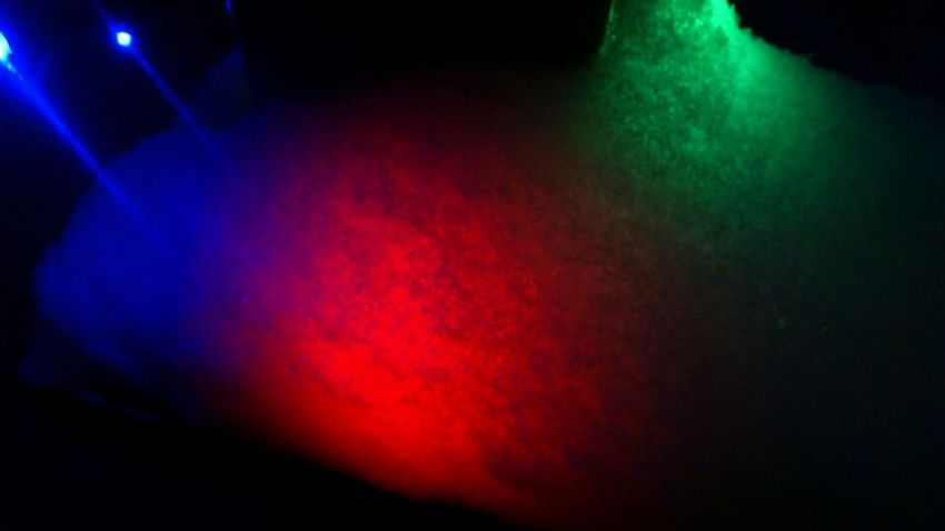Colored lamps under the snow!