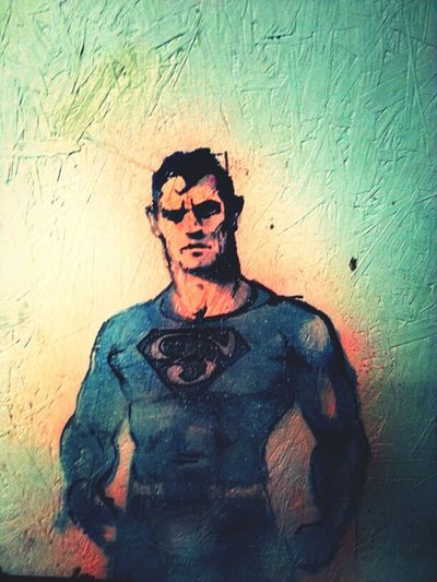 Graffiti Streetart Painting Superman