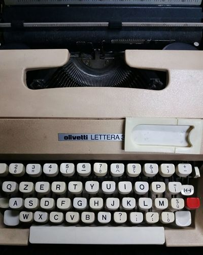 Olivetti typewriter Olivetti Typewriter Olivetti Number Text Communication Typewriter No People Indoors  Technology