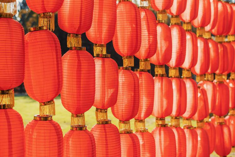 Full frame shot of chinese lanterns