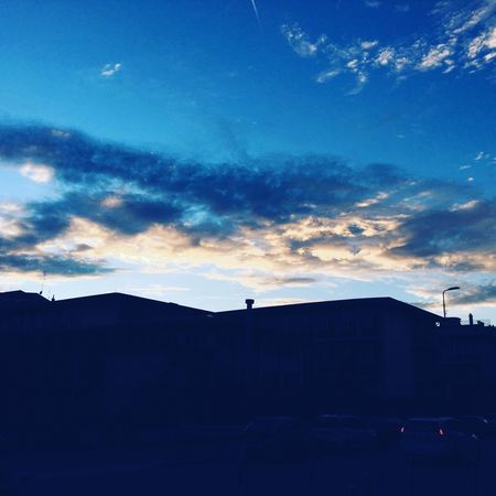 Sunset Sky No People Silhouette