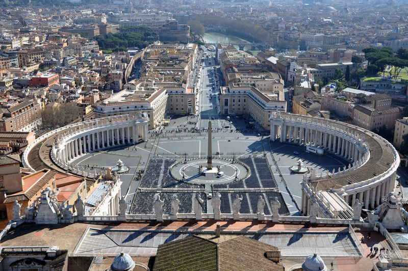 Aerial view of st peter square