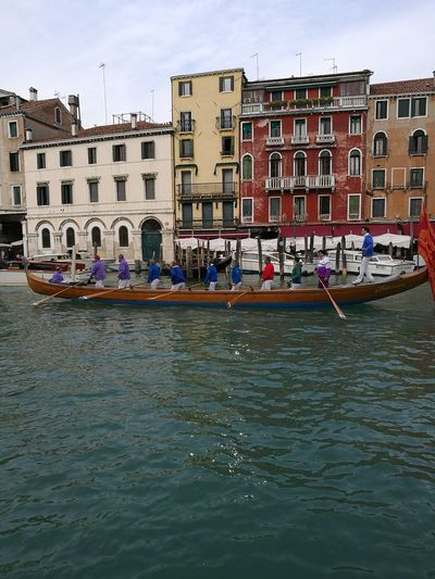 Wooden Boat Gran Canal Rowers Typical Venetian Boat Boat Diesona Water Waterfront Cityscape Cultures Canal Sky Architecture Building Exterior