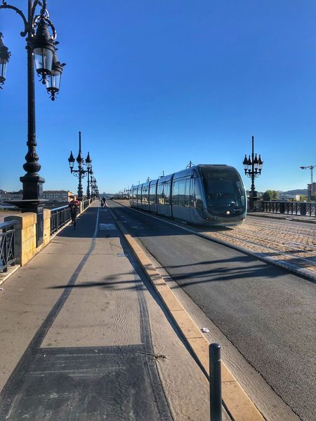 Tramway Sky Architecture Nature Built Structure Clear Sky Day Building Exterior Blue Street Lighting Equipment