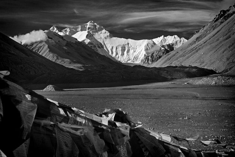 Black & White Black And White Blackandwhite China Chinalandscape Cloud Cloud - Sky Everest Everest Base Camp Fine Art Fine Art Photography Fineart Fineart_photobw Himalayan Mountains Himalayas Landscape Mountain Mountain Range Nature Physical Geography Remote Rock Formation Sky Snowcapped Mountain Tibet