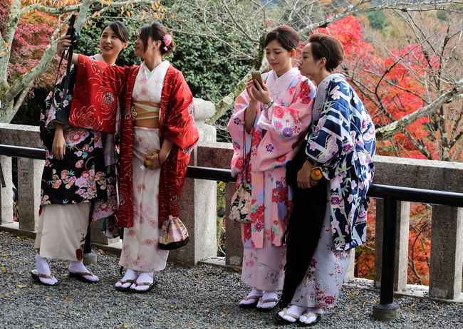 tourist Beautiful Autumn Day International Tourist My Year My View Old Town Outdoor Photography Outdoors Traditional Culture Visitors Visitors In Japan
