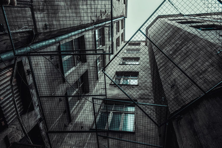 Stara Praga Architecture Communism Dark Poland Warsaw Architecture Block Building Exterior Built Structure Day Dengler Fire Escape Ghetto Low Angle View No People Old Outdoors Praga Railing Snapshopped Staircase Stairs Steps Steps And Staircases Urban Window