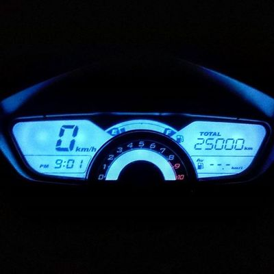 HERO Karizma ZMR Nightout Completed Journey 25000 Kms