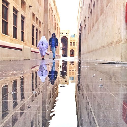 Reflections on a rainy day in Doha IPSLeadingLines Time To Reflect EyeEm Best Shots Reflection IPhoneography Hello World Life's Simple Pleasures... Streetphotography Amazing Architecture