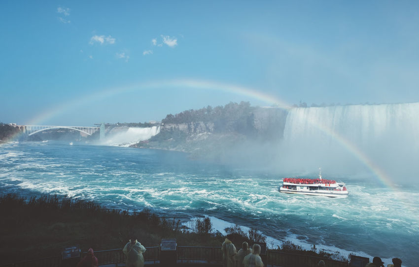 Niagara Falls Niagara Niagara Falls Beauty In Nature Day Jet Boat Lifestyles Motion Nature Nature_collection Nautical Vessel Outdoors Real People Scenics Sea Sky Spraying Transportation Vacations Water Waterfall Wave Perspective On Nature
