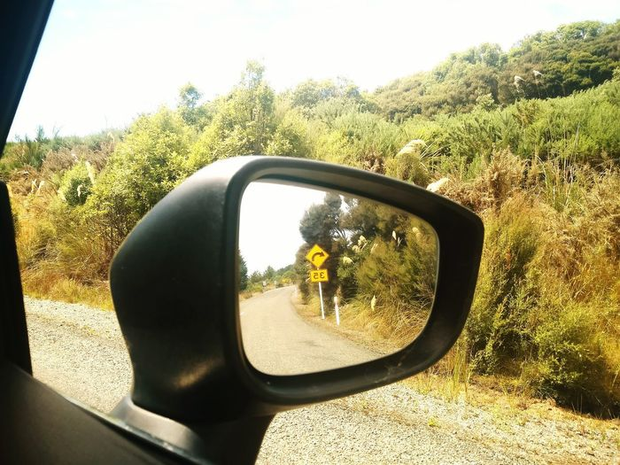 Redo.. New Zealand Bluff Bluff Point EyeEmNewHere Redo Long Drives Drives Cars Mirrors Mirror Image Sign Boards Road Road Signs Travel Tourism