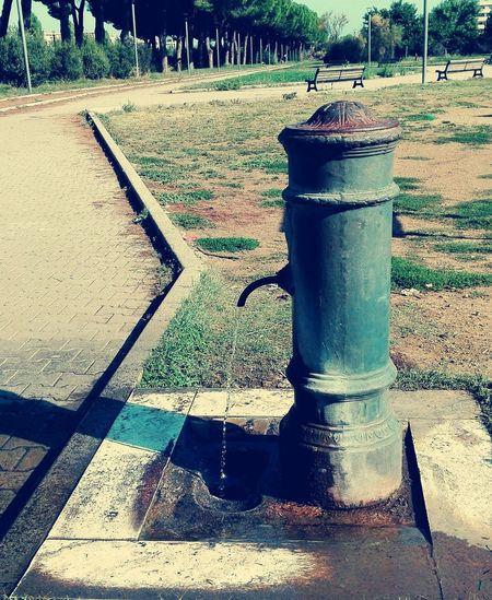 fontanella... Drinking Fountain Public Park Water Drinking Water Rome Shadow Sunlight
