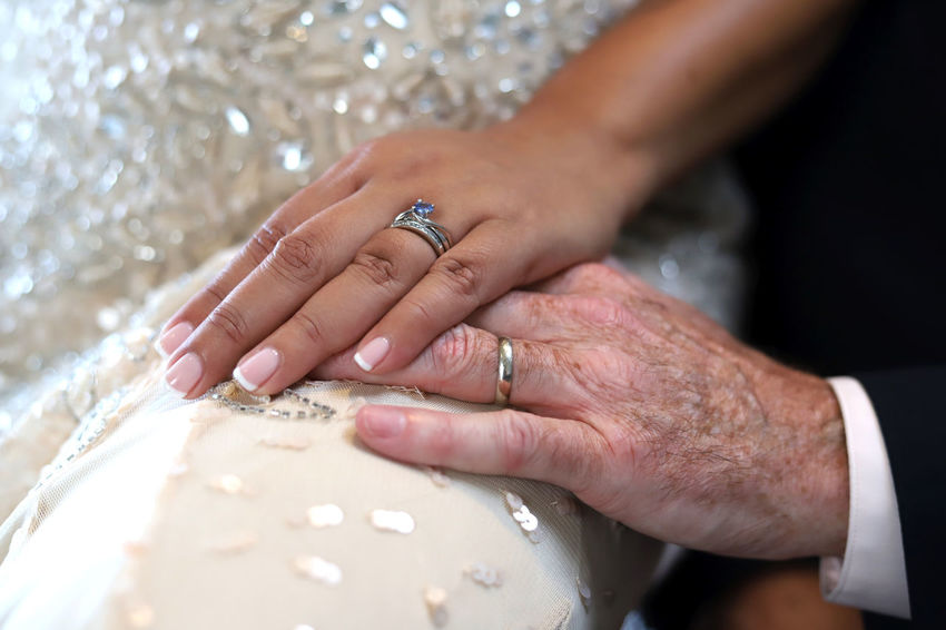 Newlywed Human Hand Hand Jewelry Human Body Part Celebration Ring Event Wedding Love Adult Two People Wedding Ring Bride Married Men Newlywed Emotion Women Ceremony Life Events Positive Emotion Couple - Relationship Wedding Ceremony Wife Finger