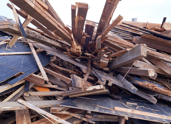 Pile of planks, boards and wood at demolition site Broken Wall Broken Wood Building Close-up Construction Material Construction Work Day Demolition Demolition Site Demolition Zone Junk Large Group Of Objects No People Outdoors Recycle Recycled Materials Waste Wood - Material Wood Pile