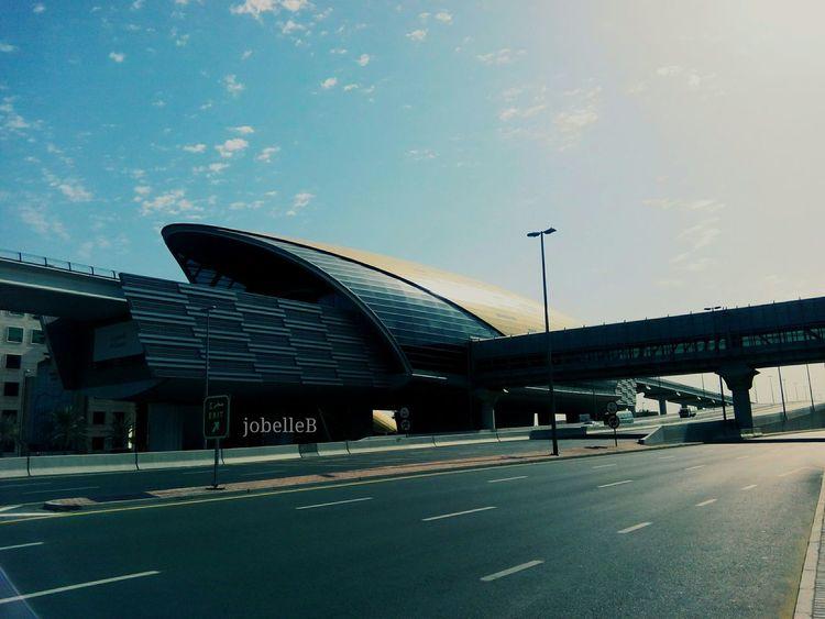 Dubai Metro Station Taking Photos Hello World
