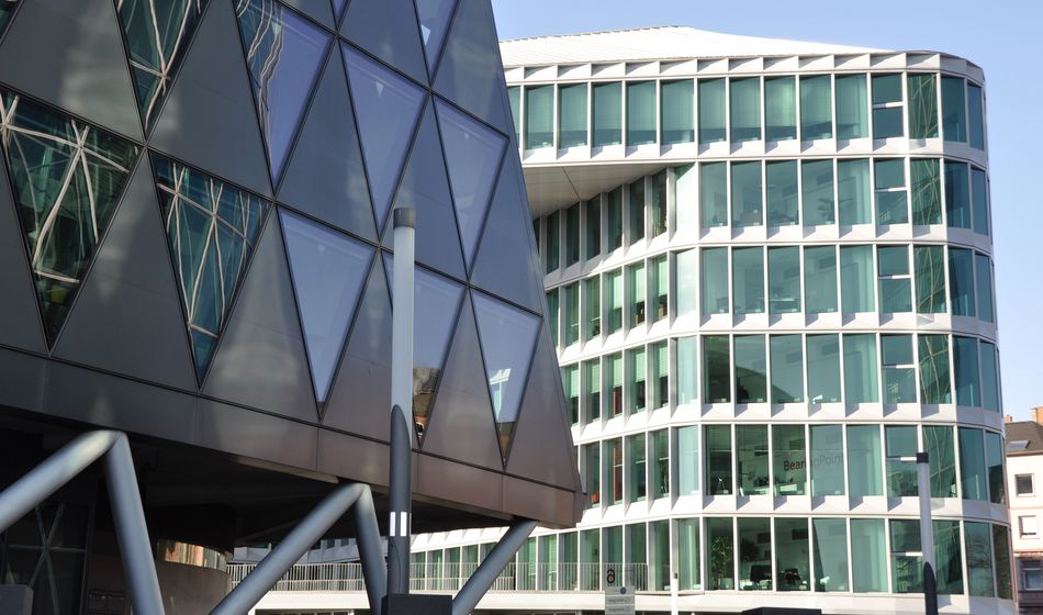 Architecture Building Exterior Built Structure Frankfurt Am Main Low Angle View Modern Modern Modern Architecture No People Office Building Exterior Outdoors Residential Area Residential Building Westhafen