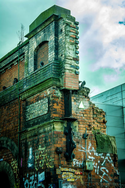 Abandoned Animal Shelter Architecture Brick Brick Wall Dome EyeEmNewHere Graffiti HipHop History Modern And Poor No People Old Buildings Old Ruin Outdoors Overground Pigions Pipes Poverty Reality Rich Colors Ruined Building Ruins Shoreditch Shoreditch High Street