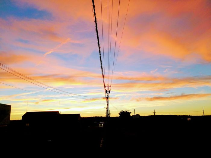 Evening_sky Summer2018🌴 Evening_time Japan🇯🇵 風景 Nature Awesome_nature Ruralscene Heart_imprint Outdoors 夕景 Evening Light EyeEmNewHere EyeEm Nature Lover Sunlight Beauty In Nature Landscape_Collection Awesome_shots Sunset Telephone Line Multi Colored Silhouette Orange Color Dramatic Sky Sky Cloud - Sky Telephone Pole Romantic Sky Moody Sky Sky Only