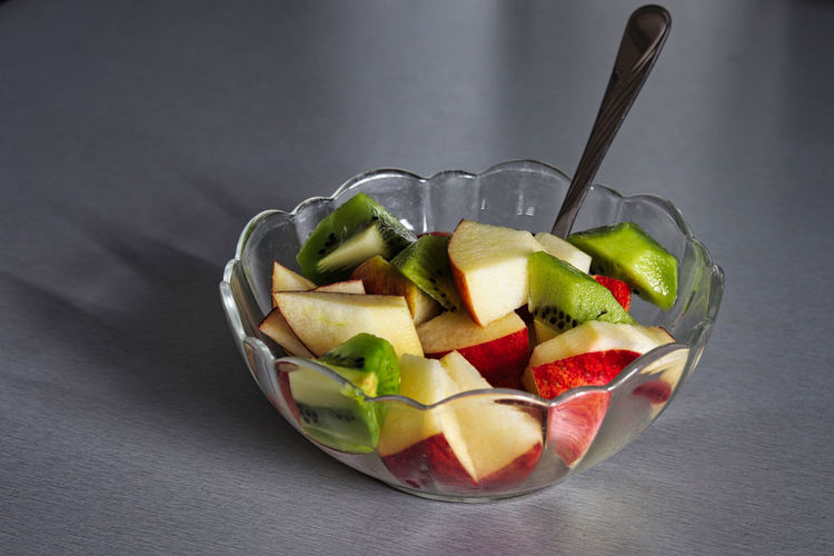 Fruit salad in container