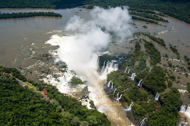 Aerial view of iguacu falls