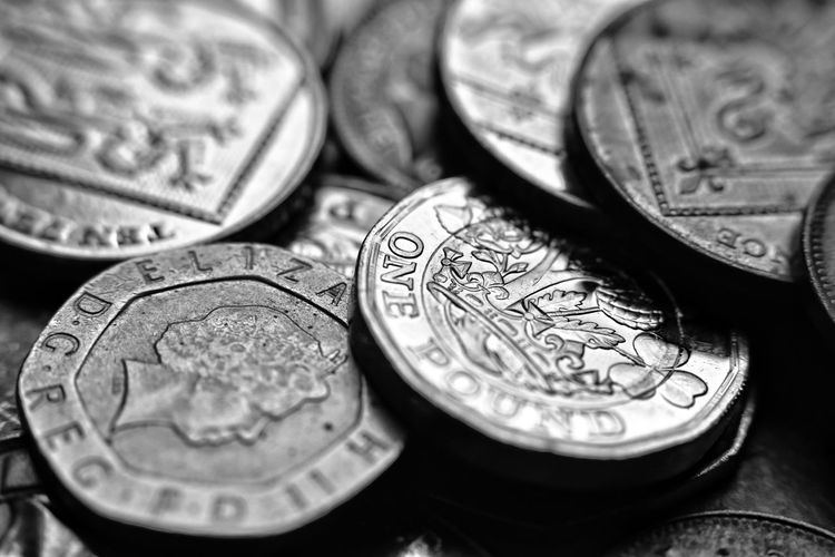 black and white money Malephotographerofthemonth Macro Photography Metal Art Blackandwhite Photography monochrome photography Bnw Currency And History Uk Coin Savings Currency Finance Wealth Metal Silver - Metal Number Close-up Money Financial Item