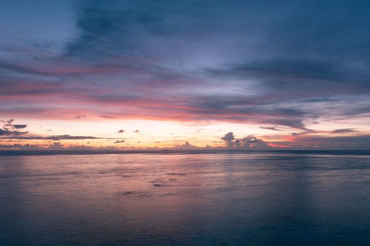 Idyllic Shot Of Seascape Against Sky During Sunset