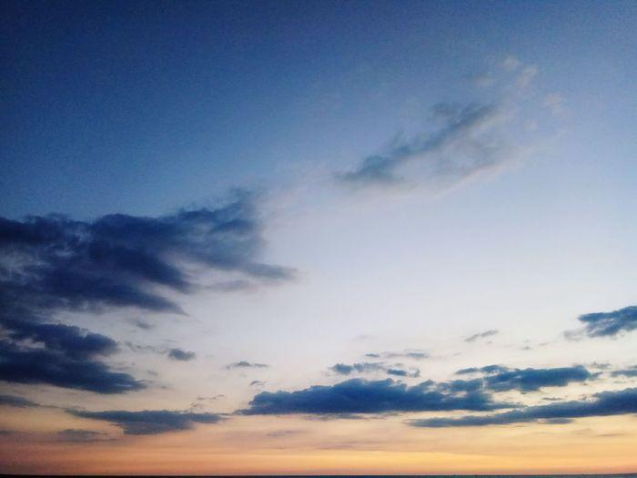 Cloud - Sky Sky Blue Nature Sunset Backgrounds No People Tranquility Outdoors Scenics Beauty In Nature Nature Tranquility Storm Cloud Cloudscape Beauty In Nature Tranquil Scene Idyllic Sea Dramatic Sky Horizon Over Water Sunlight Sky Only Environment La Caleta, Faro De La Caleta