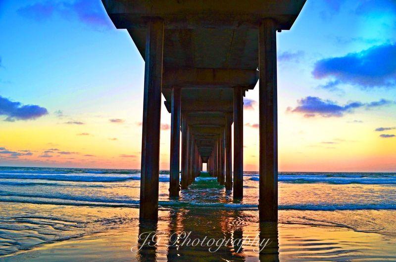 Scripps Pier La Jolla Sunset Clouds IPS2016Composition San Diego Sunny San Diego☀ Followme Loves2travel Jessicagarciasphotography Showcase: January