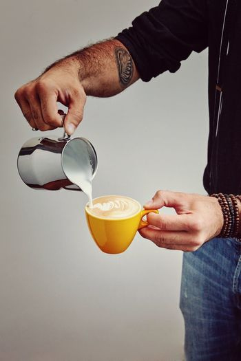Barista Drink Hand Food And Drink Refreshment Holding One Person Human Hand Indoors  Food Real People Men Cup Mug Freshness Studio Shot Coffee Coffee Cup Human Body Part Preparation  Glass Breakfast My Best Photo