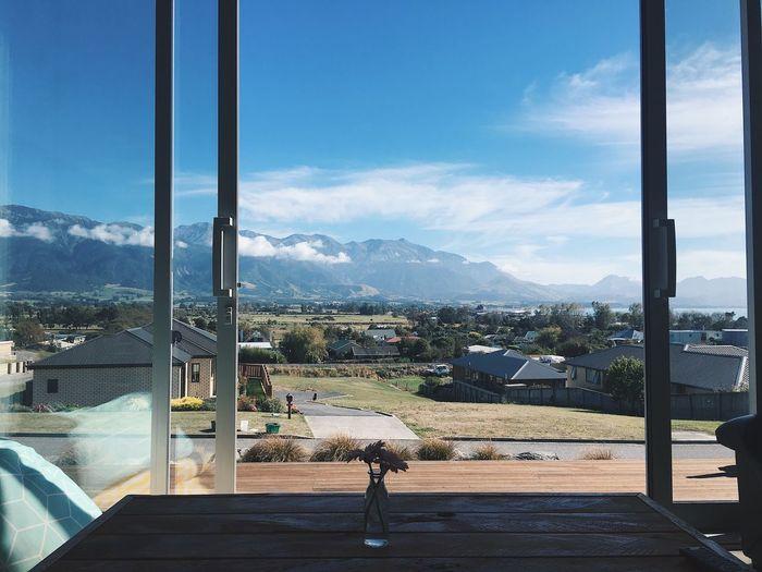 View from Rachel's living room 😱 Scenics Beauty In Nature Home View Windows Mountain Range Sky Landscape New Zealand Sliding Door