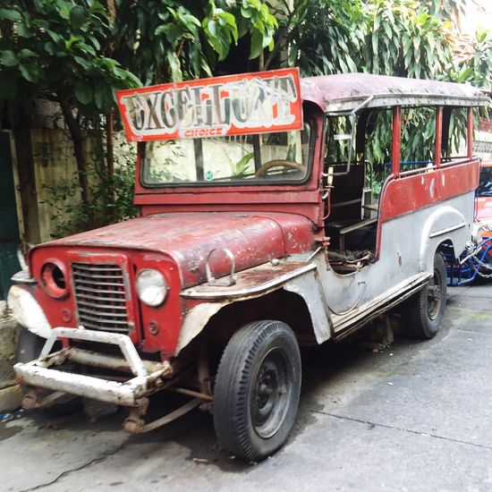 Oldrusty Land Vehicle Transportation Mode Of Transport Oldcars Oldschooljeepneys Jeep Jeepney Oldjeep Oldjeepney